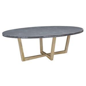 Design Oval Table with Teak Feet