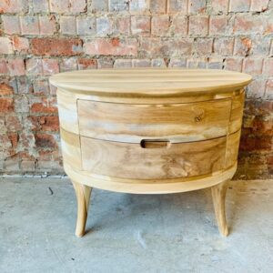 Retro Bedside Table – 2 Drawer