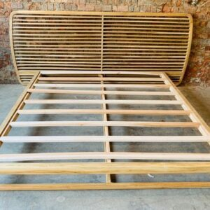 Solid Teak Retro Bed – King Size