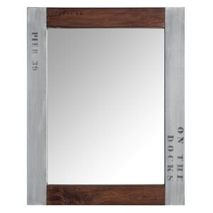 Wood & Aluminium Mirror