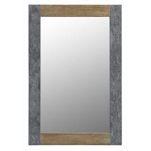 Wood & Concrete Mirror