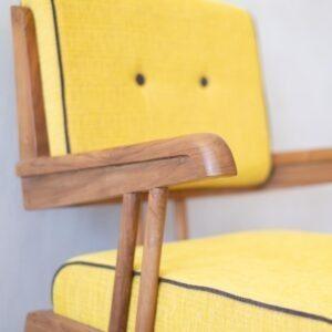 Solid Teak Retro Armchair