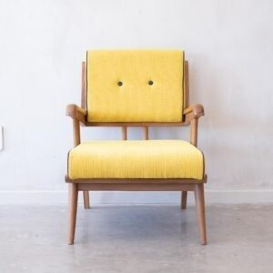 Solid Teak Retro Armchair